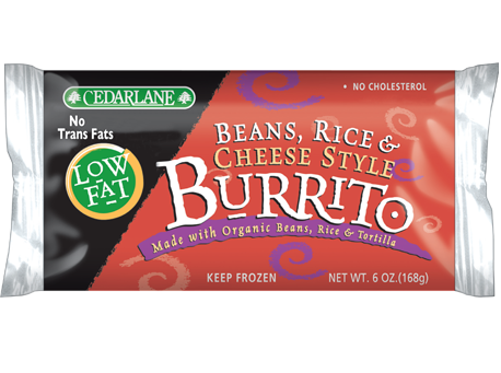 Beans Rice & Cheese Style Burrito