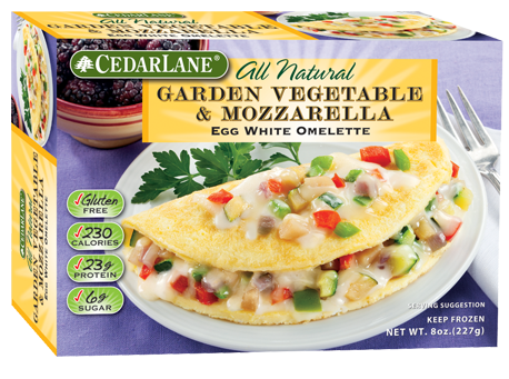 Garden Vegetable & Mozzarella Egg White Omelette