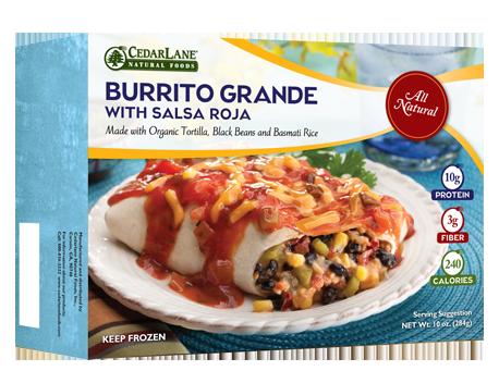 Burrito Grande with Salsa Roja