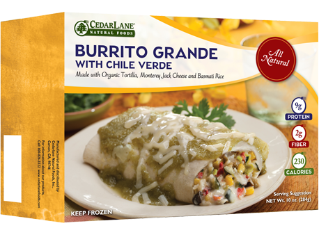 Burrito Grande with Chili Verde Sauce
