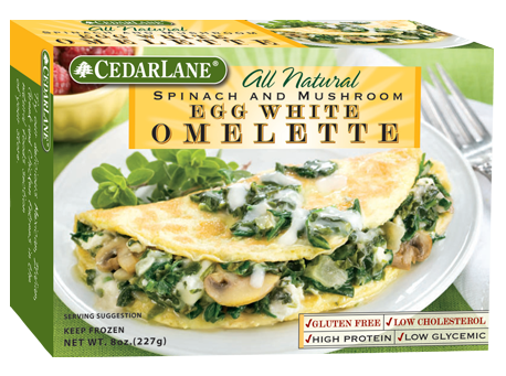 Spinach and Mushroom Egg White Omelette
